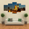 Big Ben clock Tower in London at night Multi panel canvas wall art