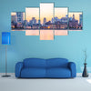 Night View Of The Bund Shanghai Multi Panel Canvas Wall Art