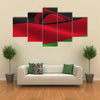 The National Flag Of The Malawi Is Flying in The Air, Multi Panel Canvas Wall Art
