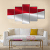 Flag of Monaco Multi panel canvas wall art