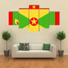 Grenada Flag Vector Icon – Illustration Multi panel canvas wall art