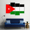 Jordan Flag Vector Icon – Illustration Multi panel canvas wall art