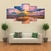 Sunrise at Seongsan Ilchulbong Jeju island,South Korea multi panel canvas wall art