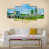 Temple of the Frescoes at the Mayan ruins of Tulum in Quintan Peninsula Multi panel canvas wall art