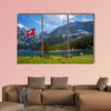 The panorama in summer view over the Oeschinensee (Oeschinen Lake) multi panel canvas wall art