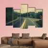 Road up the mountain with dangerous curves multi panel canvas wall art