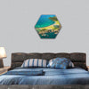 Roberton Island - Bay of Islands, New Zealand hexagonal canvas wall art