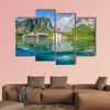 Classic panoramic view of Lake Konigssee multi panel canvas wall art