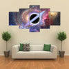 Black Orbit Abstract In Outer Space Multi Panel Canvas Wall Art