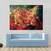 Polygonal Triangular And Nebula Geometric Cloudscape Multi Panel Canvas Wall Art