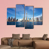 Photo shoot at Canda, day time cityscape Multi panel canvas wall art