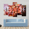 Abstract Art With Polygonal Starry Cloudscape Backdrop Multi Panel Canvas Wall Art