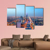 Riyadh skyline at night, Capital of Saudi Arabia multi panel canvas wall art