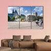 Street view of downtown in Leipzig, Germany multi panel canvas wall art