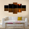 Beautiful sunset on the river Multi panel canvas wall art