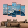 Large royal cruise liner on the way multi panel canvas wall art
