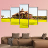 Beautiful Thai church in Prayodkhunpol Wiang Kalong temple, Thailand multi panel canvas wall art