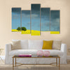 summer in the countryside in denmark rapse field Multi Panel Canvas Wall Art