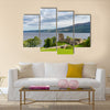 Glen Urquhart Castle, which stands prominently beside Loch Ness multi panel canvas wall art