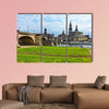 Panorama of Dresden from river bank of Elba multi panel canvas wall art