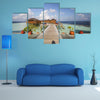 The Print Of Vilamendhoo Island At The Water Bungalows Side, Maldives Multi Panel Canvas Wall Art