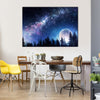 Full Moon On Abstract Natural Background Multi Panel Canvas Wall Art