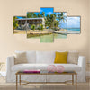 small tropical island with paradise beach Central America Multi panel canvas wall art