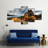A Quiet Church By A Glacier Lake Against A Mountain, Multi Panel Wall Art