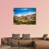 Panorama of Karimabad and Hunza valley in Gilgit-Baltistan Pakistan Multi panel canvas wall art