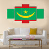 Flag of Mauritania official colors and proportions, vector image Multi panel canvas wall art