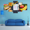 Time for diet, fasting diet concept, Multi panel canvas wall art