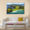 Waetorea Island - Aerial, Bay of Islands, Northland, New Zealand Multi panel canvas wall art