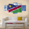 Namibia Flag in a Blue Sky Multi panel canvas wall art