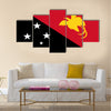 Flag of Papua New Guinea official colors Multi panel canvas wall art