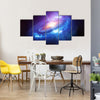 Black Hole In The Galaxy Surrounded With Stars Multi Panel Canvas Wall Art