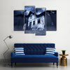Abandoned Haunted House Multi Panel Canvas Wall Art