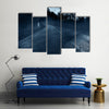Abandoned House On The Empty Road Side Multi Panel Canvas Wall Art