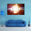 Planets In The Gloomy Space Multi Panel Canvas Wall Art