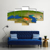 America Gets Spotted On The Earth From Outer Space Multi Panel Canvas Wall Art