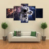 Astronaut In Outer Space Multi Panel Canvas Wall Art
