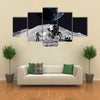 The First Step On Moon Multi Panel Canvas Wall Art