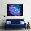 The Cosmos Luminous Spiral Galaxies With Rotating Stars Multi Panel Canvas Wall Art Set