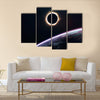 The Celestial Solar Eclipse From The Gloomy Space Multi Panel Canvas Wall Art