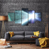 The Light Leaks From The Galaxy Multi Panel Canvas Wall Art