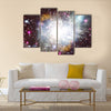 Nebula And The Star Dust Great Companions In The Space Multi Panel Canvas Wall Art