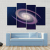 Dark Sky Reflecting Galaxy And Stars All Around At Night Multi Panel Canvas Wall Art