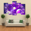 The Trending Horoscope Circle To Tell Your Future Multi Panel Canvas Wall Art