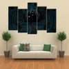 A Spooky Haunted House In The Dark Forest Multi Panel Canvas Wall Art