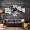 The Spiner With Scope And Insignia And Shiny Bullets Multi Panel Canvas Wall Art Set