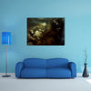 When Birds Sense The Paranormal Man In A Black Coat Multi Panel Canvas Wall Art